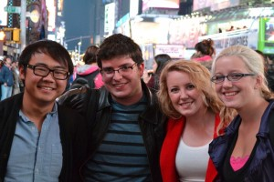 Photo of students in Times Square, NYC