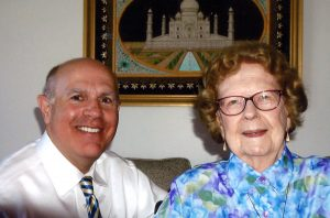 Dr Berry visits with Edna Norvell 38